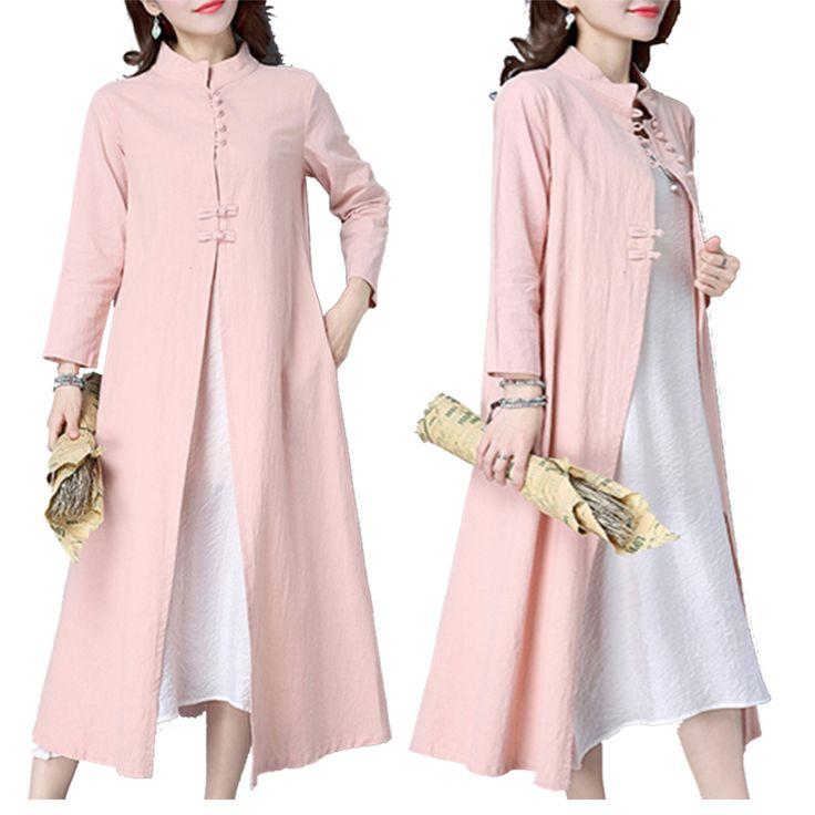 Folk Frog Color Patchwork Long Sleeve Dresses For Women Shopping Online - NewChic Mobile.