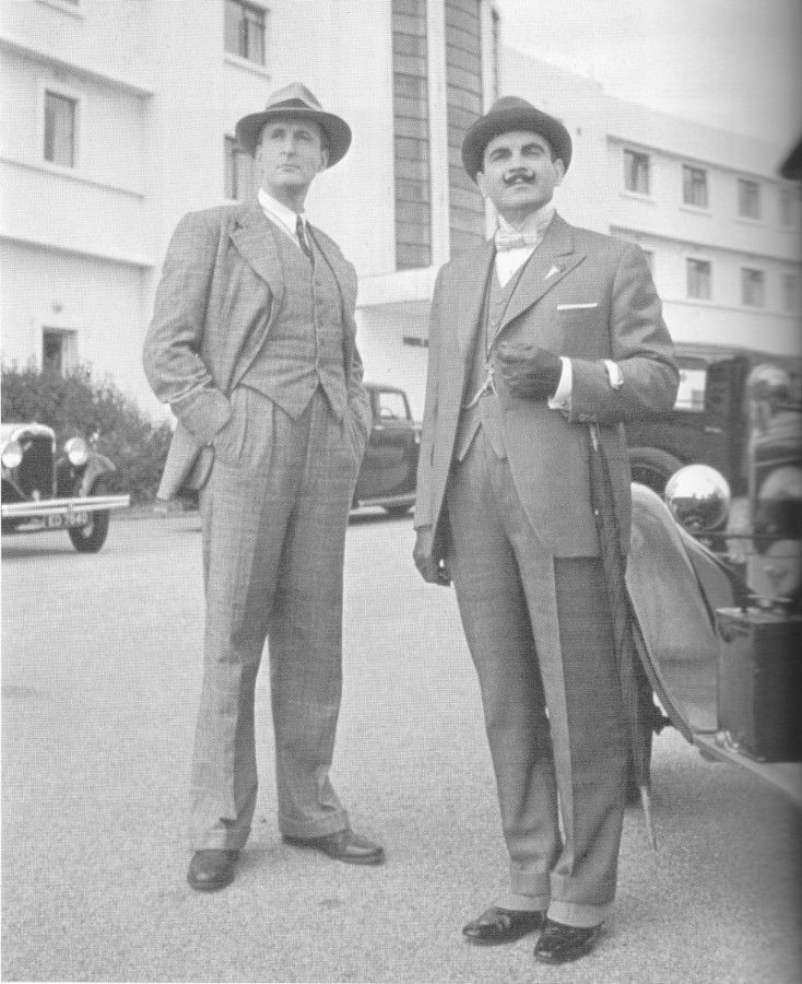 Captain Hastings and Hercule Poirot, the Midland Hotel, Morecambe ...