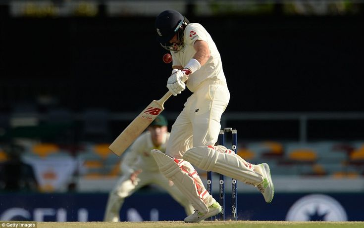 England captain Joe Root was struck on the helmet by a fierce Mitchell Starc bouncer during the early stages of his innings