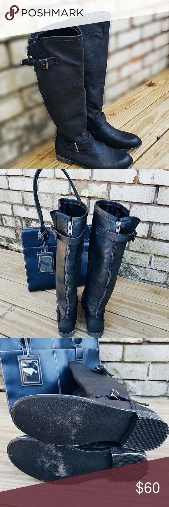 """⬇️PRICE DROP⬇️ NWOT Letoya Wide Calf Boots NWOT Letoya wide calf riding boots, bought and never worn because they didn't fit calf  accommodates anywhere between 16-18"""" calfs, don't have the box Shoe Dazzle Shoes Heeled Boots"""