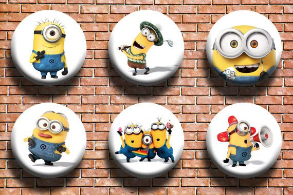 Minions 1.25 Button Six Pack