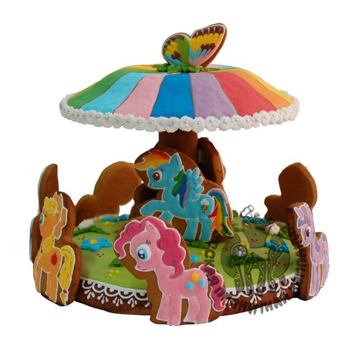 Пряничный торт - карусель пони