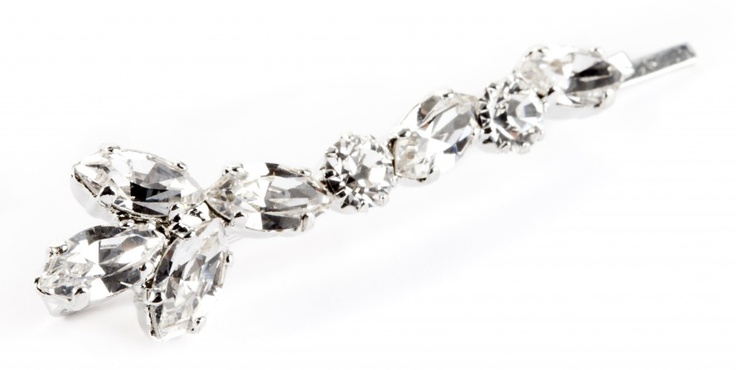 Hairpin in silver plated brass and swarovsky crystal//  Molletta in metallo (ottone) argentato strass Swarovsky Crystal €29,00  #wedding #bride #hair
