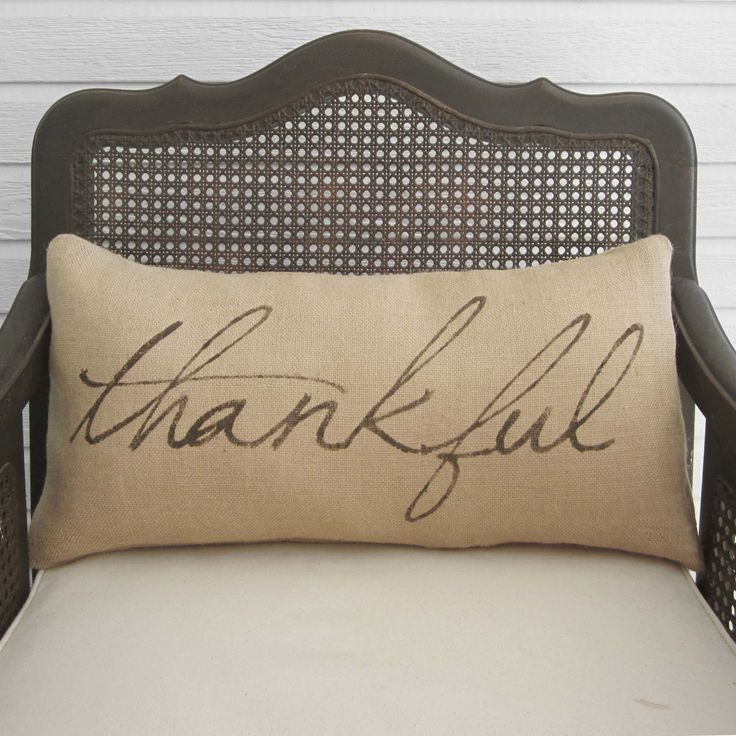 Decorative Pillows For Fall : Thankful- Burlap Pillow - Fall Pillow - Thanksgiving Decor Thanksgiving, App and Fall