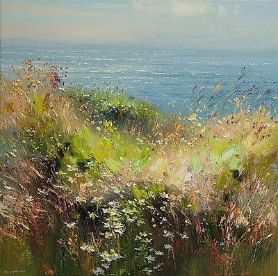 British Artist Rex PRESTON-Summer Flowers, Cornwall