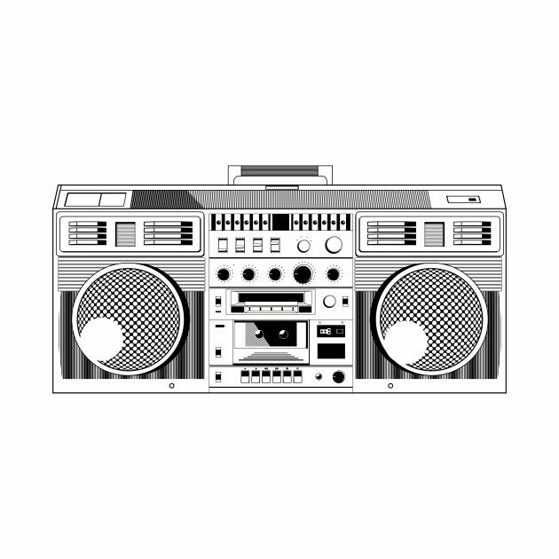 Boombox - Music - T-Shirt | TeePublic