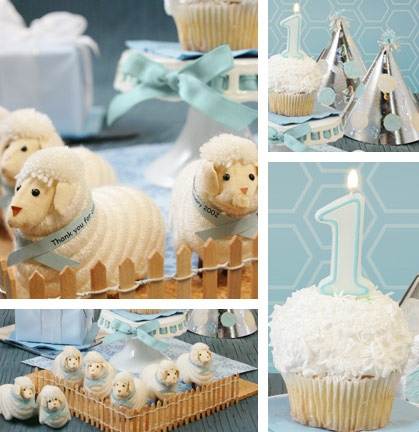 Sheep themed party. Repinning for @Adrienne Holliday