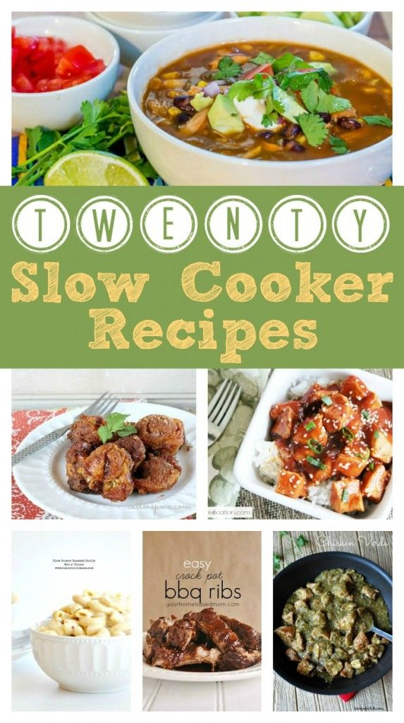 20 Slow Cooker Recipes