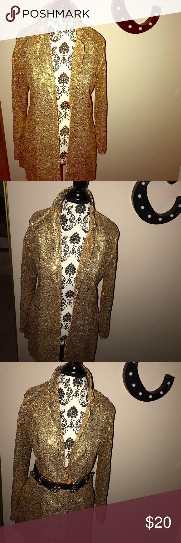 Gold sequin jacket Brand new from overseas! Gold sequin blazer! Jackets & Coats Blazers