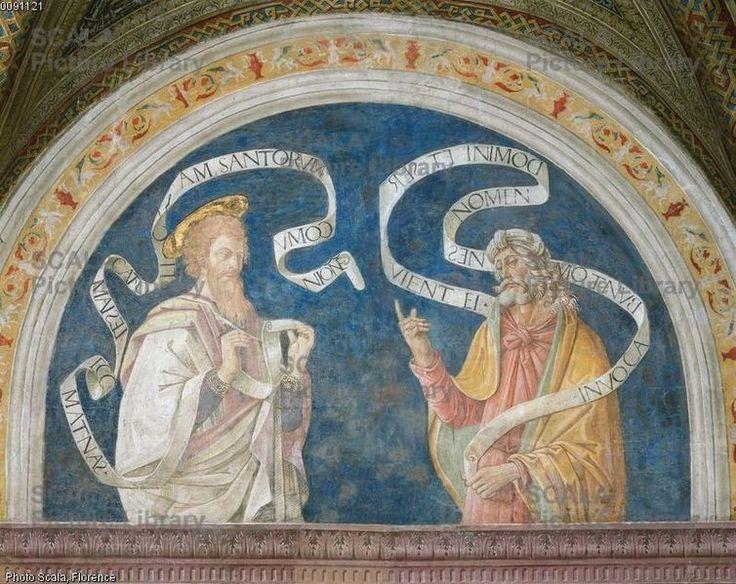 Pier Matteo d'Amelia (c. 1450-1503\8) - Thomas and Daniel - affresco - 1492-1494 - Sala del Credo - Appartamento Borgia - Palazzo Apostolico della Città del Vaticano - Musei Vaticani