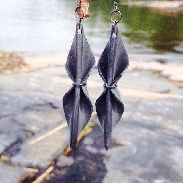 Innertube earrings #uniquedesignbymaria Made in Finland