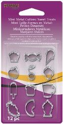 Premo! Mini Metal Cutters, Sweet Treats, 12 Designs