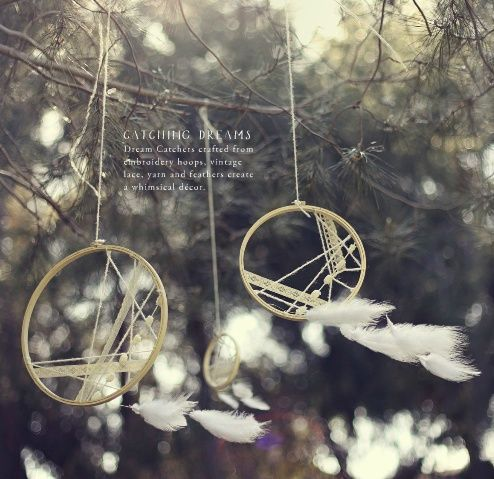 Dreamcatcher hung on trees for a wonderful forest wedding - Decoration For Home - #baumen #decoration #hingen #traumfanger #