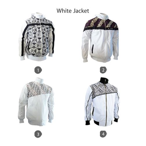 White Jacket for Your September All Ready Stock #jaketbatikmedogh http://medogh.com/baju-batik-pria/jaket-batik-pria