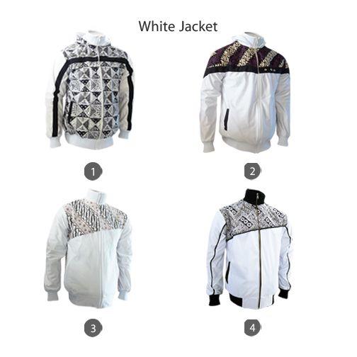 White Jacket for Your September All Ready Stock #jaketbatikmedogh http://medogh.com/baju-batik-pria/jaket-batik-pria