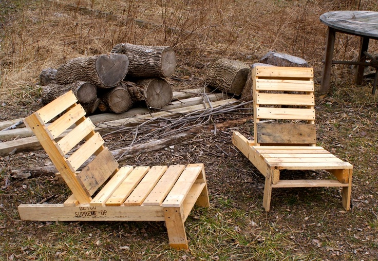 Adirondack Chairs made from Pallets by PlayHausDesign on Etsy