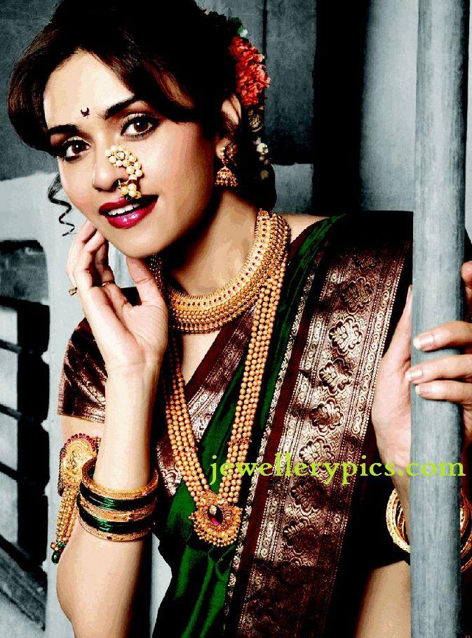 PN Gadgil model in gold gundla mala and vajratik - Jewellery Designs                                                                                           More