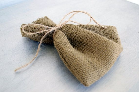 DIY wedding burlap pouches 6x6 or custom sizes available. In a rich brown burlap. Perfect for an added rustic charm. Hand cut & Hand sewn by Pamela Joyce Designs
