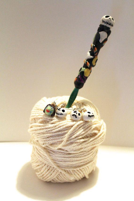 Jack Skellington Crochet Hook Stitch by TXCrochetandCupcakes, $18.00