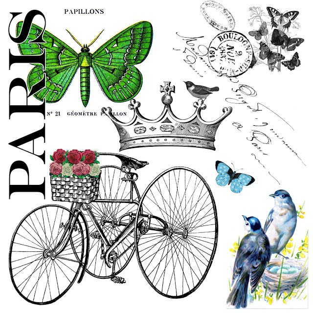 The Party Continues and a Paris Garden Free Graphic for you! - The Cottage Market