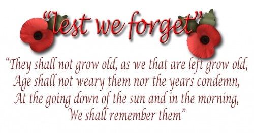 LEST WE FORGET xxx