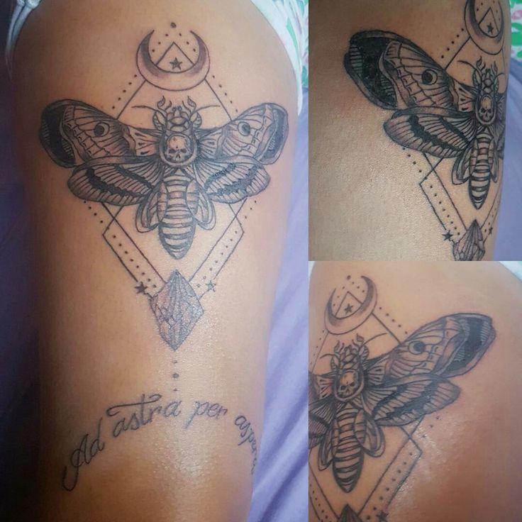 Ad astra per aspera tattoo libélula