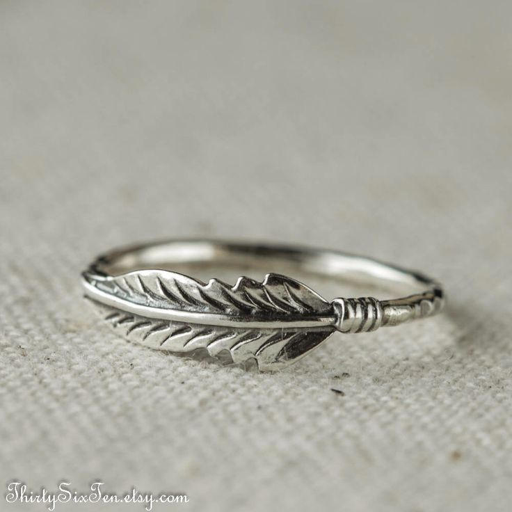 Feather Ring,  Sterling Silver Ring, Stacking Ring by 36ten on Etsy https://www.etsy.com/listing/128827293/feather-ring-sterling-silver-ring