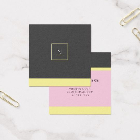 24 best trendy business cards images on pinterest stylish elegant pastel chic square business cards reheart