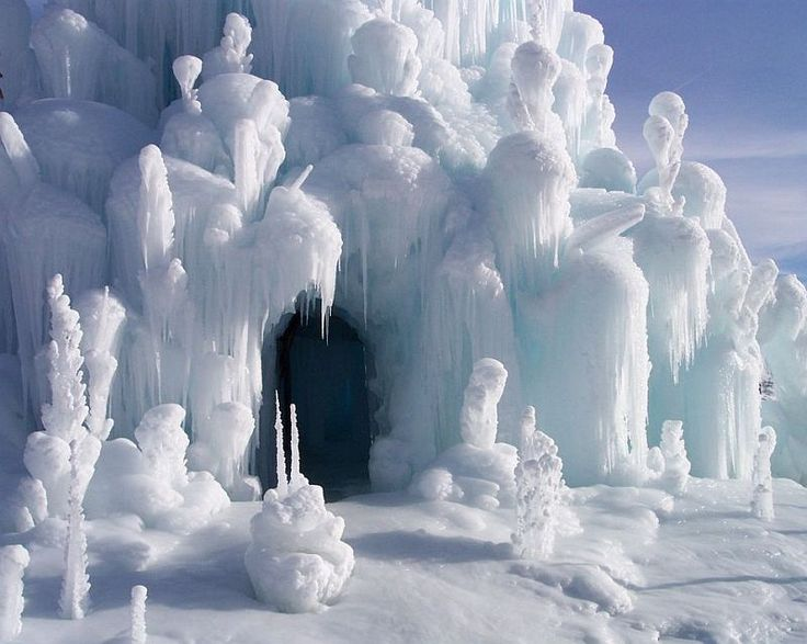 looks like the abominable snow monsters' cave on Rudolf the red nosed reindeer