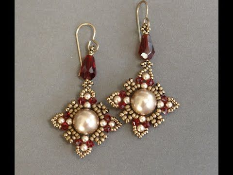▶ Sidonia's handmade jewelry - Oriental earrings Beading tutorial - YouTube
