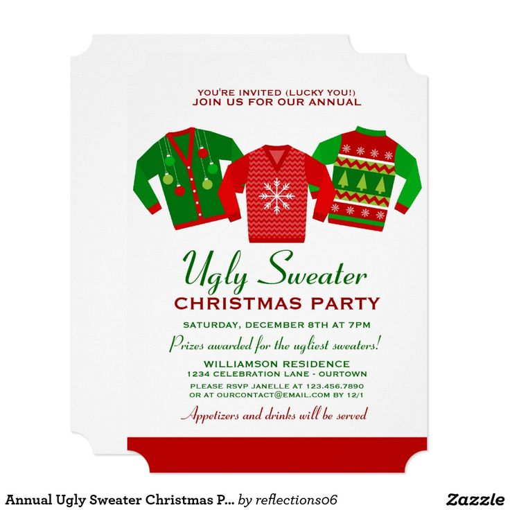 95 best Ugly Christmas Sweater holiday Invitations images on ...
