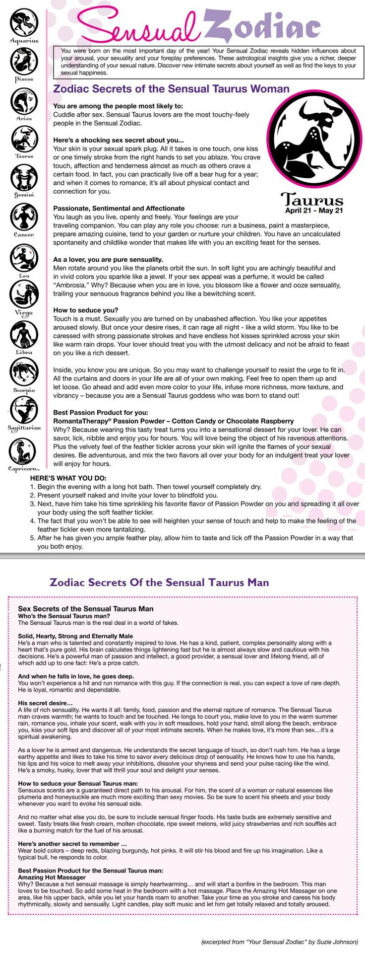 Sensual Taurus Woman/man