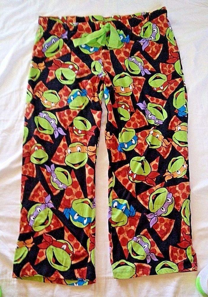 Nickelodeon Teenage Mutant Nija Turtles Sleep Pants Jammies Womens Size XL Pizza #Nickelodeon #LoungePantsSleepShorts #Everyday