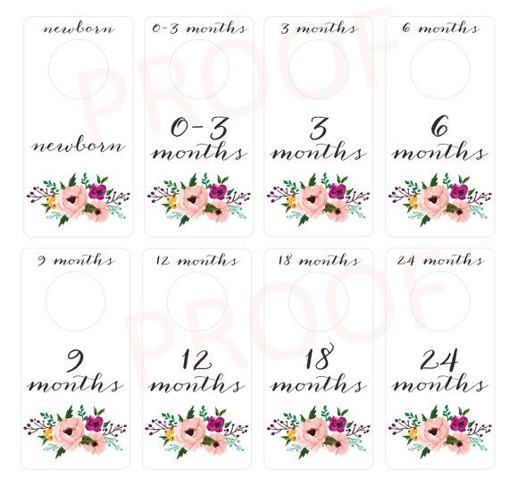 1000 ideas about baby closet dividers on pinterest baby for Baby clothes size organizer