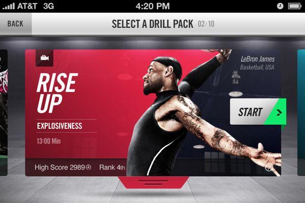 #Nike+ Training by Jordan Fripp, via #Behance #Webdesign #Mobile