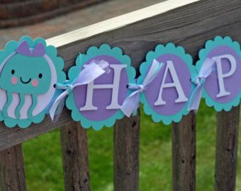 free birthday banner printable templates under the sea - Google Search