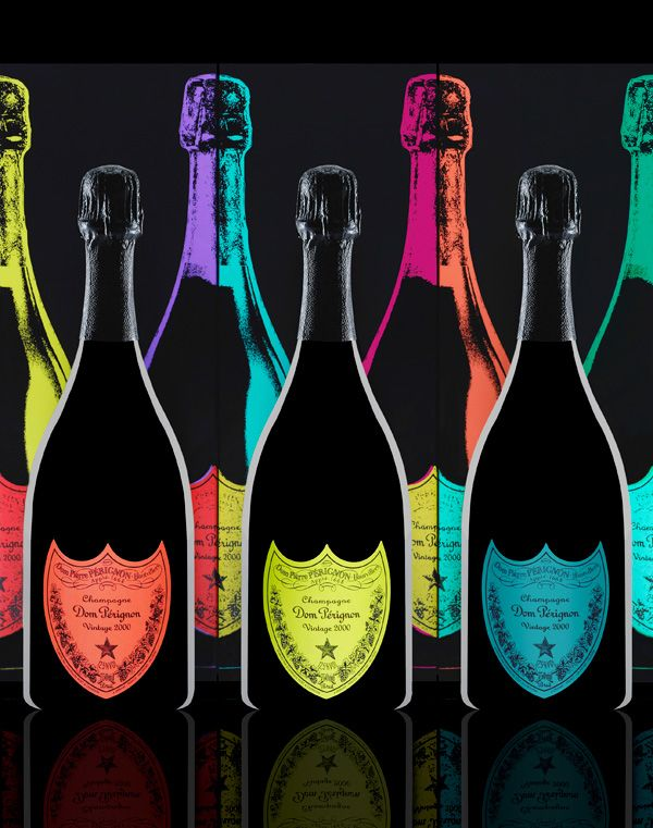 Collaboration between Dom Pérignon, The Andy Warhol Foundation and the Design Laboratory at London's Central Saint Martin's School Of Art & Design
