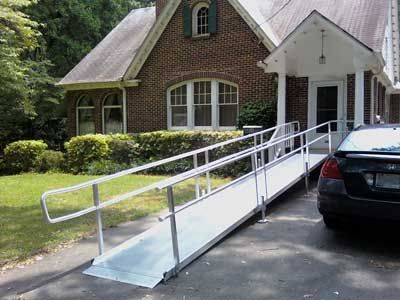 13 best wheelchar ramps images on pinterest for Modular homes handicapped accessible