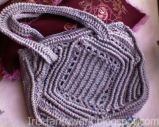My Fancywork Blog: Серая сумка вязаная крючком.