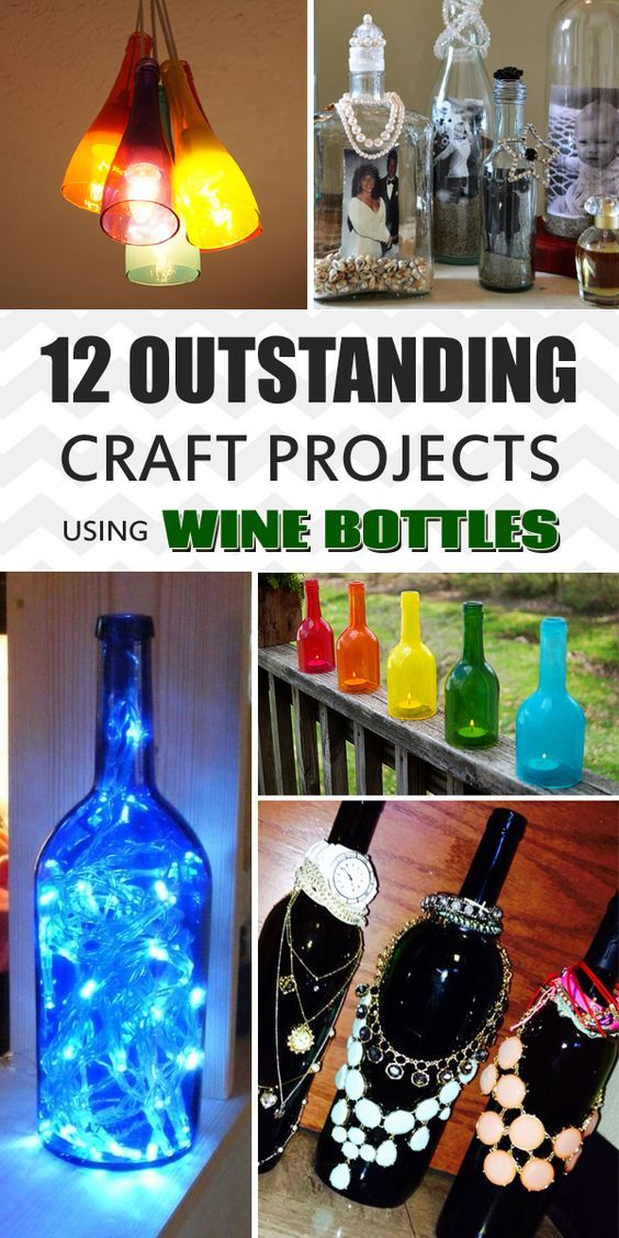 12 Outstanding Craft Projects Using Wine Bottles