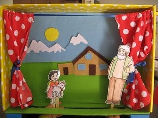 Homemade puppet show theater