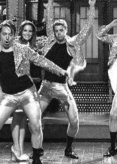 dancing snl saturday night live tina fey kyle mooney beck bennett shimmy noel wells mike obrien thrusting brooks wheelan john milhiser killer dance moves commit let your spirit die crotching man thighs #gif from #giphy