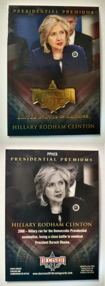 Hillary Clinton: Decision 2016 - Series 2 Update - Hillary R. Clinton - Presidential Premiums -> BUY IT NOW ONLY: $39.95 on eBay!