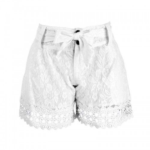WHITE SHORTS W/LACE (100% COTTON)