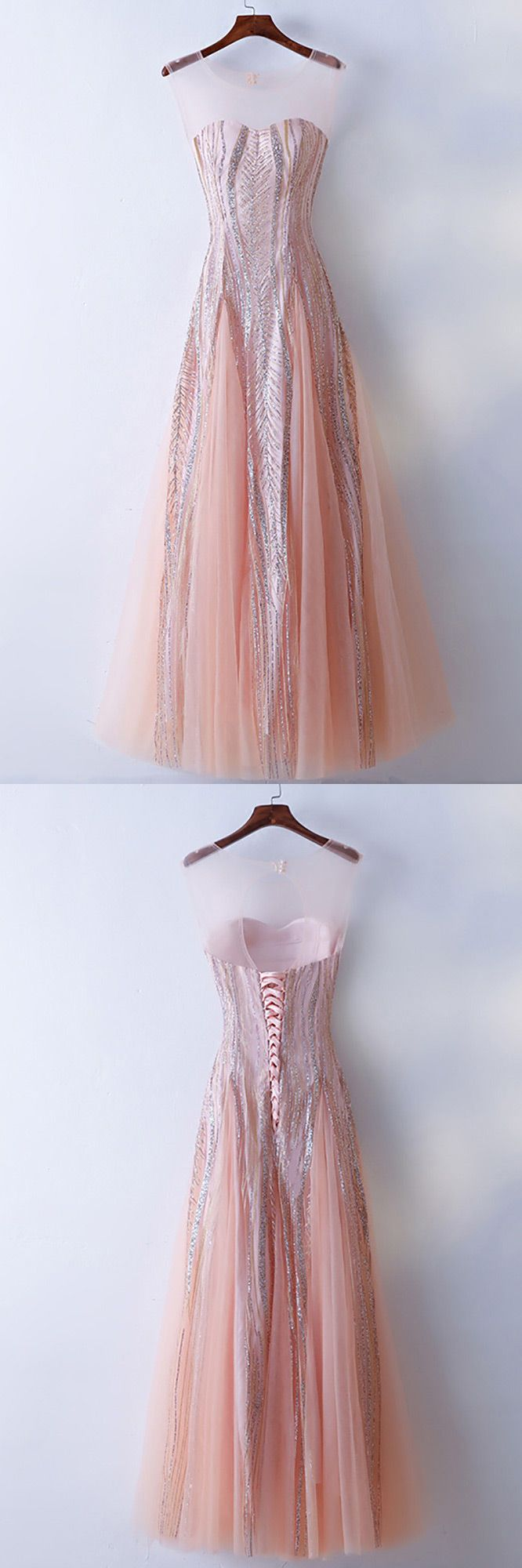 Only $118, Unique Illusion Neckline Sparkly Pink Prom Dress Long Tulle #MYX18006 at #SheProm. SheProm is an online store with thousands of dresses, range from Prom,Homecoming,Party,Pink,A Line Dresses,Long Dresses,Customizable Dresses and so on. Not only selling formal dresses, more and more trendy dress styles will be updated daily to our store. With low price and high quality guaranteed, you will definitely like shopping from us. Shop now to get $10 off!