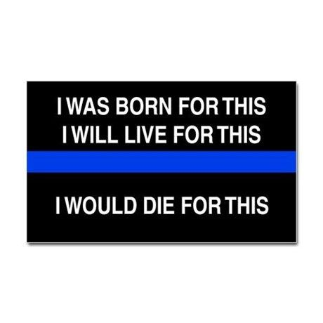 Thin Blue line Decal on CafePress.com