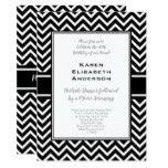 Black and White Chevron Birthday Party Card #weddinginspiration #wedding #weddinginvitions #weddingideas #bride