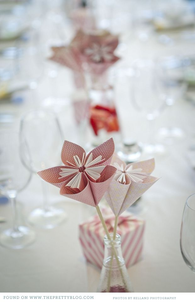 Love the way these were made - must try figure it out. And a much more budget friendly option than flowers!  # paper flowers