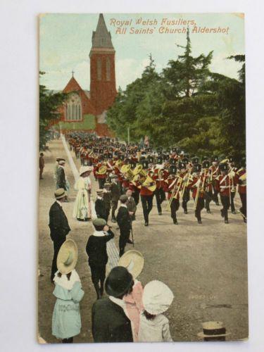 Church Parade for RWF at Aldershot Garrison church.