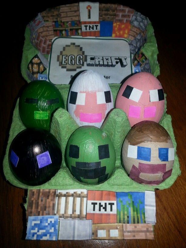 Our Mine craft eggs won the school competition today! ;)
